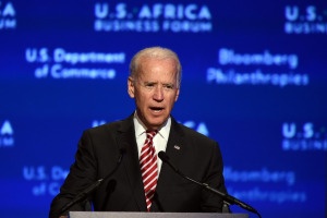 Joe Biden speaking during US-Africa Business Forum in August 2014.