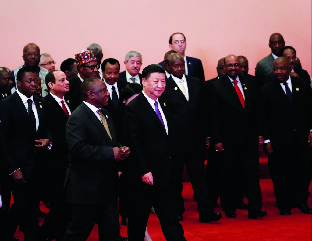 President Xi Jinping with African leaders.
