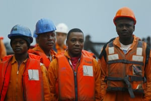 Angolan oil workers.