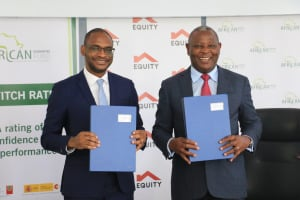 Jules Ngankam, CEO of AGF, and Dr James Mwangi, CEO of Equity Group.