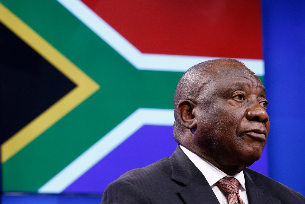 President Cyril Ramaphosa of South Africa.