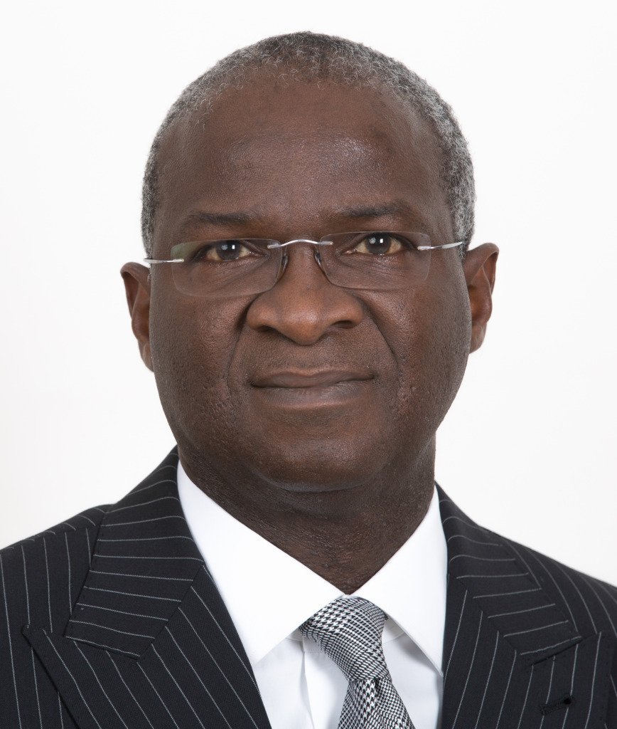 Nigeria's minister for works and housing, Babatunde Fashola.