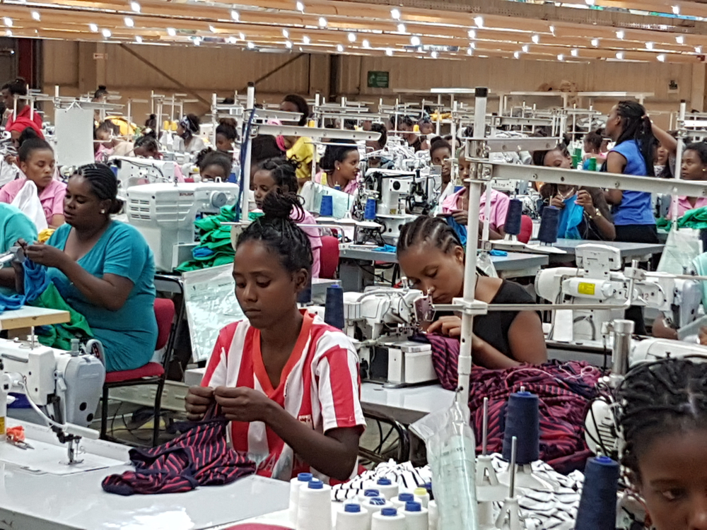 Women textile workers in an Ethiopian factory.