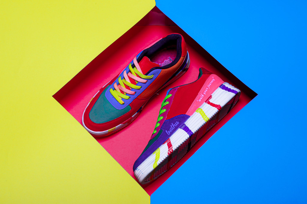 A pair of Bathu sneakers.