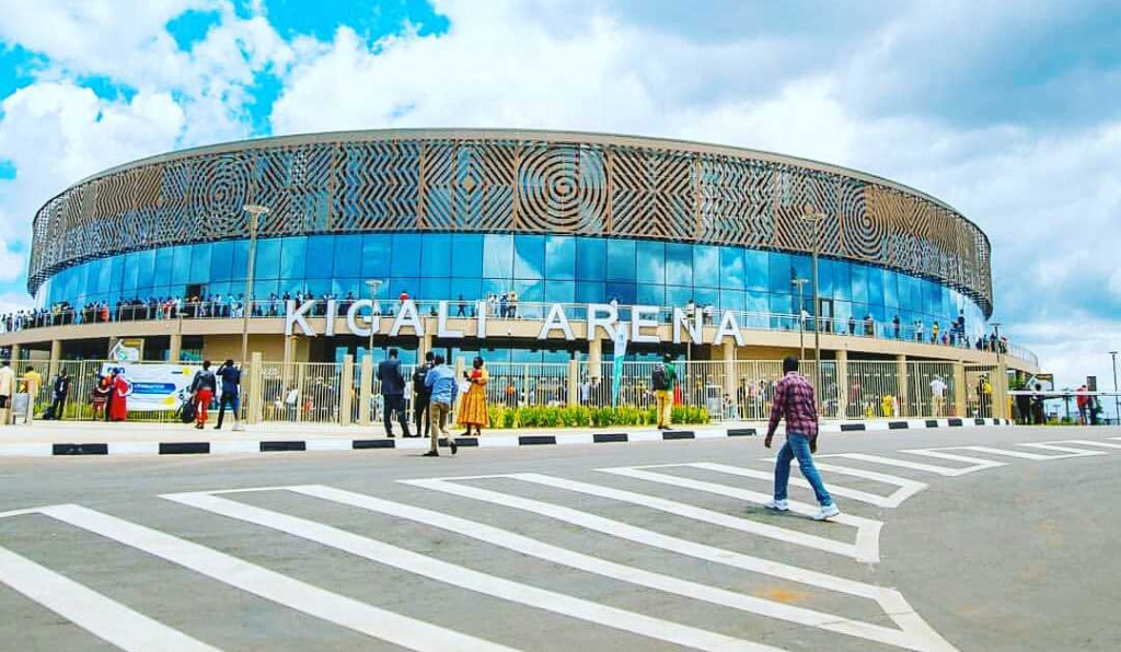 The Kigali Arena, viewd from outside.