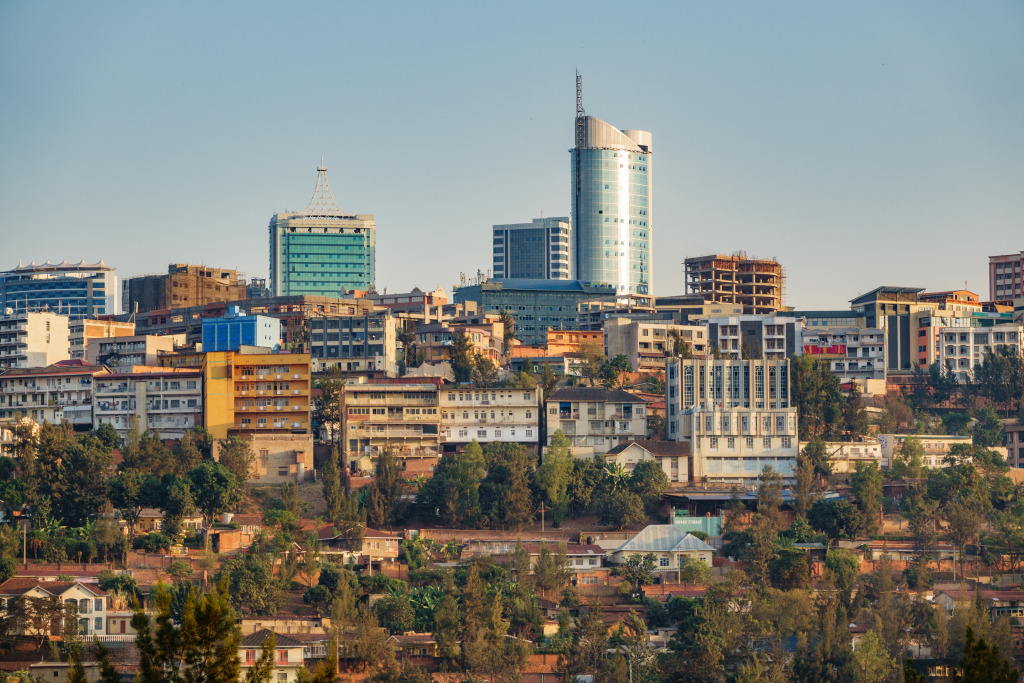 A view of downtown Kigali.