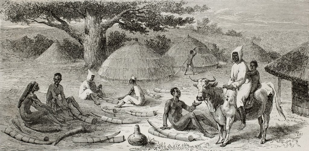 Old picture of traders in Sudan